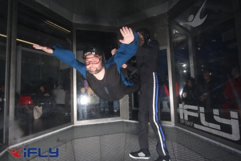 My hubby, Taed, at iFly.