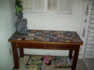 Can you believe that a child actually sat at this desk?  They must have been tiny.